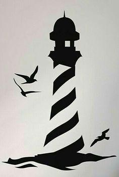 , Lighthouse on the Beach Seaside ART Wall Quote Decal Transfer Vinyl Decal -. , Lighthouse on the Beach Seaside ART Wall Quote Decal Transfer Vinyl Decal - Stencil Art, Stencil Designs, Stencil Patterns, Wall Drawing, Art Drawings, Vinyl Decals, Wall Decals, Art Mur, Seaside Art