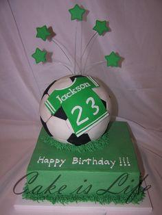 Soccer Ball Birthday Cake cakepins.com