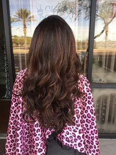 Chocolate brown, with light brown balayage