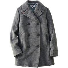 UNIQLO Ines Wool Blend Pea Coat