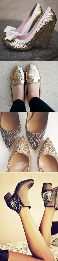 Looking for some shoes to wear tonight for New Year's Eve? Here are some ideas, along with lots of glitter, sequin, and sparkle-filled ideas! #NYE #sparkle #glitter #sequin
