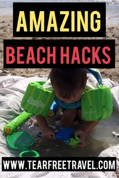 These are the best beach hacks! Here's our list of the best beach hacks for travel with kids.