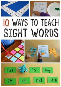 These sight word activities are fun alternatives to flash cards. Plus, they& low prep! I love easy sight word games. These sight word activities are fun alternatives to flash cards. Plus, theyre low prep! I love easy sight word games. Teaching Sight Words, Sight Word Practice, Sight Word Activities, Literacy Activities, Literacy Centers, Sight Words For Preschool, Word Games For Kids, List Of Sight Words, Writing Games For Kids