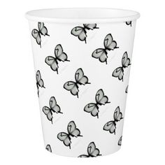 Valley Sage Huntsman Butterfly Paper Cup - nursery ideas gift present idea diy individual customized