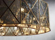Truss Round Chandelier in Antique Copper Round Chandelier, Light Up, Lamp Shade, Lighting, Arhaus, Contemporary Chandelier, Chandelier, Chandelier Lighting, Ceiling Lights