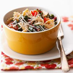 Pasta with Swiss Chard From Better Homes and Gardens, ideas and improvement projects for your home and garden plus recipes and entertaining ideas.