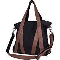 Leaper Vintage Canvas Shoulder Bag Tote Bag Hobo Shopper Duffel Bag