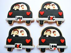 "PETIT FOUR: ""Just Married Cookies"""