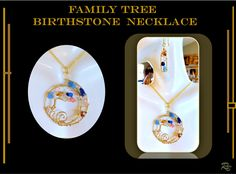 Family Birthstone necklace, gemstone necklace,family birthstne ge Birthstone Pendant, Birthstone Necklace, Gemstone Necklace, Turquoise Necklace, Family Tree Necklace, Tree Of Life Necklace, Grandmother Gifts, Jewelry Tree, Gifts For Wife