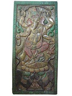 Indian Inspired Dancing Hindu God Ganesha Carving Teak Wall Panel 72 X 36 Inches Mogul Interior http://www.amazon.com/dp/B00NIGT540/ref=cm_sw_r_pi_dp_a2Hgub0D1AAPF