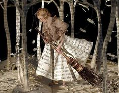 A whole diorama made from book pages. This one seems doable to me. Now when can I get some time?