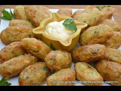 Fish Recipes, Vegetable Recipes, Appetizer Recipes, Appetizers, Healthy Food Alternatives, Healthy Recipes, Falafel, Pescado Recipe, Colombian Food