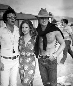 Director Sydney Pollack with the stars of The Way We Were, Barbra Streisand and Robert Redford