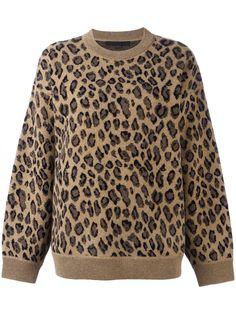 ALEXANDER WANG Leopard Print Sweater. #alexanderwang #cloth #sweater