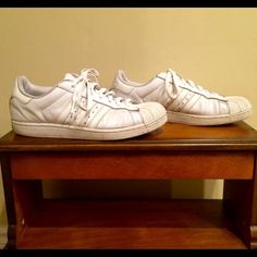 Size 9.5 Men's Adidas Shoes.Not new, but has life. Size 9.5 Men's Adidas Shell-toe Shoes. Not new, but has life. Adidas Shoes Athletic Shoes
