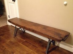 Slab Bench & Table Metal Leg Set Unfinished 7 in. by RusticLiving