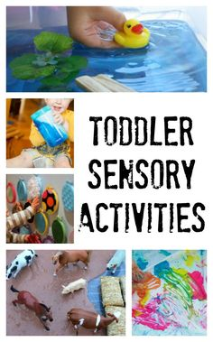 These are fabulous sensory activities for toddlers! So simple to set up and sure to impress!