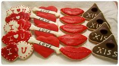 Valentines's Day Theme Cookies by OliviasHomemadeSweet on Etsy, $24.00