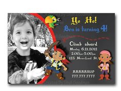 Jake and the Neverland Pirate  Invitation Digital by CupcakeTops, $8.00