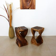 @Overstock - Bold, yet gentle, rustic, yet refined, this stool is handcrafted from eco-friendly sustainable wood