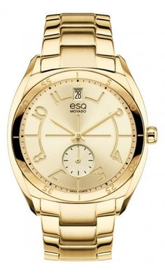 "ESQ ""Origin"" Unisex Watch. Stainless Steel Gold IP Plated Quartz Movement. $395 at DarcysFineJewelers.com"