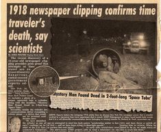 time travel evidence photos | ... newspaper photo, appeared in our friend Luc Sante's book Evidence