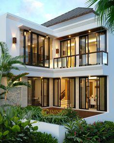Modern home design Modern House Facades, Modern Architecture House, Modern House Plans, Architecture Design, 3 Storey House Design, House Front Design, Modern House Design, Classic House Exterior, Dream House Exterior