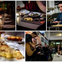 Live music by Argentinian Pizza Supper Club- based in a small and cosy bar in Shoreditch & hosted by Oli. Find out more about this supper club on CookoutChef.com #cookoutchef