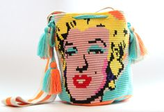 Handwoven mochila bag Marilyn by VaLArteorg on Etsy