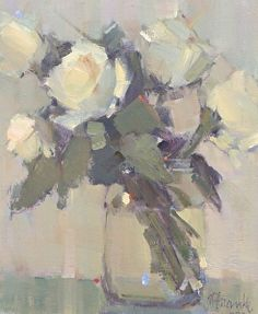 Rose Poetry by Nancy Franke Oil ~ 12 x 10