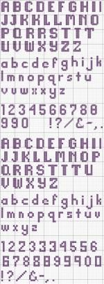 A basic block alphabet should be a part of every cross stitcher's collection. This free alphabet can be easily applied to a variety of projects.