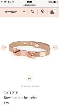 Ted Baker | Bow Leather Bracelet