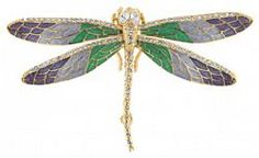 Bring forth a natural radiance with this enameled dragonfly brooch from the Jackie Kennedy Collection. Colourful and dazzling, you'll never fail to attract attention when you wear this remarkable...