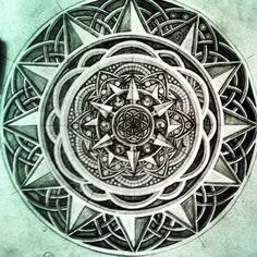 Mandala Designs, jessellorion: #inprogress #mandala #floweroflife...