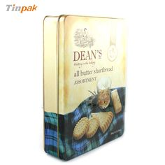 Dean's shortbread biscuit tin box is not a common tin as it usually requires very high demand on the printing quality with the use of multiple PMS colors to entertain customer's