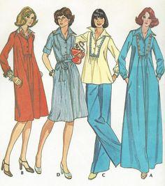 1970s Womens Boho Top or Dress Maxi Length McCalls by CloesCloset