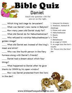 Printable bible quiz - Daniel.
