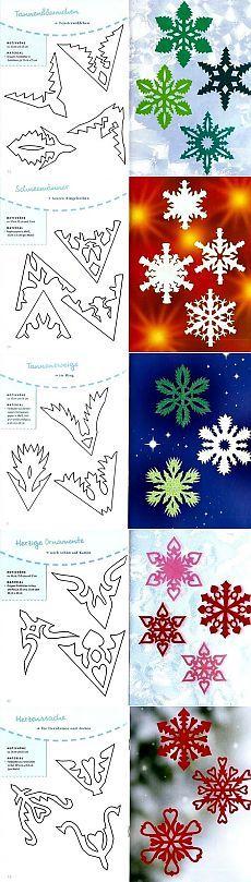 Как сделать снежинку из бумаги своими руками - схемы, фото, видео. Как вырезать снежинки из бумаги - объемную и красивую