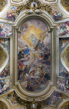 Basilica dei Santi Apostoli (Roma) - Ceiling. ✨Instagram: @Kiairajordan ⚡️Pinterest: @Kiairajordan_