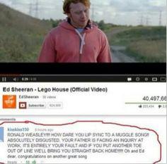 Ron's got a howler...