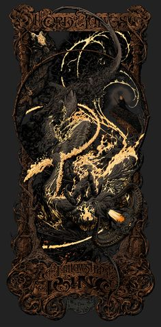 Badass Exclusive: Mondo's FELLOWSHIP OF THE RING Poster By Aaron Horkey Is Insane | Badass Digest