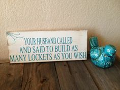 """Origami Owl, Husband called, Home Décor sign, booth display...6""""x15"""".   https://www.etsy.com/listing/162371719/origami-owl-husband-called-booth"""