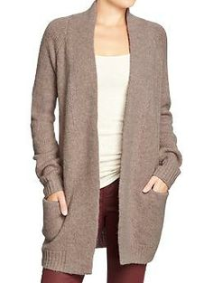 Women's Textured Open-Front Cardi Coats   Old Navy Looks cozy and warm