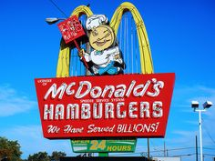 I love old McDonald's signs