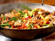 Ein schnell und lecker zubereitetes Gericht aus frischen Gemüsen und zarter Hähnchenbrust.