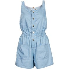 TOPSHOP MOTO Blue Utility Playsuit (260 BRL) ❤ liked on Polyvore featuring jumpsuits, rompers, playsuits, blue, jumpsuit, blue romper, playsuit jumpsuit, romper jumpsuit, playsuit romper and topshop jumpsuit