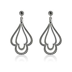 #Earrings With Black Spinel Post   #ScottKay