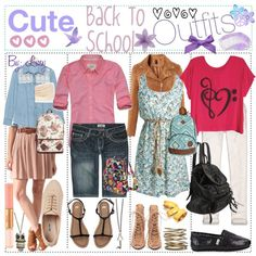 """""""Cute Back To School Outfits"""" by the-amazing-tip-chickas on Polyvore"""