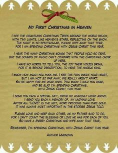 """""""So have a Merry Christmas and wipe away that tear. Remember, I'm spending Christmas with Jesus Christ this year."""" Even though you aren't here to spend Christmas with us this year, I know you're having the best Christmas you've ever had! Merry Christmas in Heaven Jaden! I love you"""