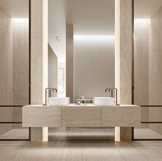 Travertine bathroom in our latest apartment project - 'Daracombe' in Kew. A combination of filled and un-filled travertine pairs with… Interior House Colors, Bathroom Interior Design, Interior Paint, Travertine Bathroom, Apartment Projects, Home Remodeling Diy, Classic Home Decor, Interiores Design, Bathroom Inspiration